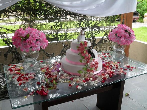 Decoração para festa de casamento de tarde 008