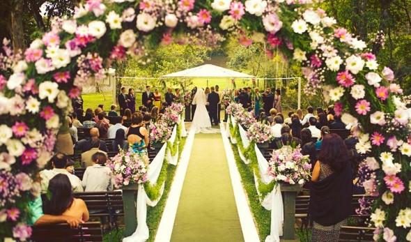 Decoração para festa de casamento de tarde 009