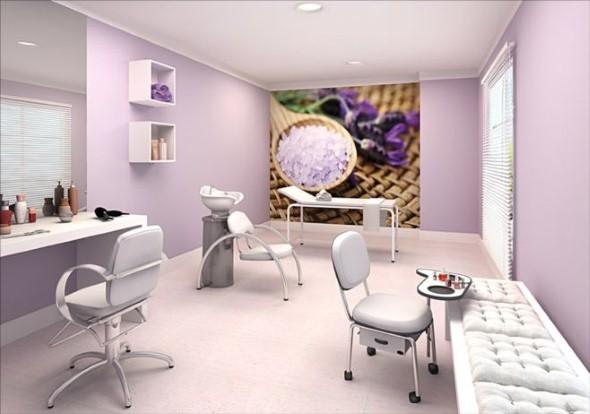 Decoração simples para salão de beleza 012