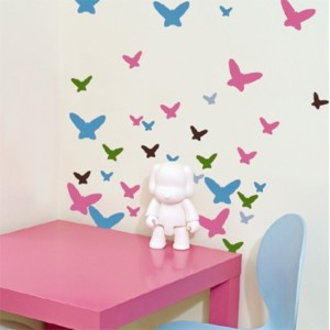 Enfeitar paredes com borboletas 001