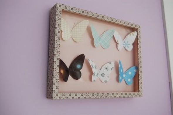 Enfeitar paredes com borboletas 004