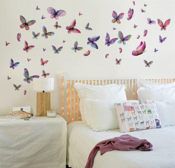 Enfeitar paredes com borboletas 005