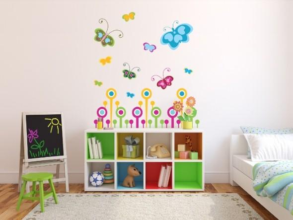 Enfeitar paredes com borboletas 007