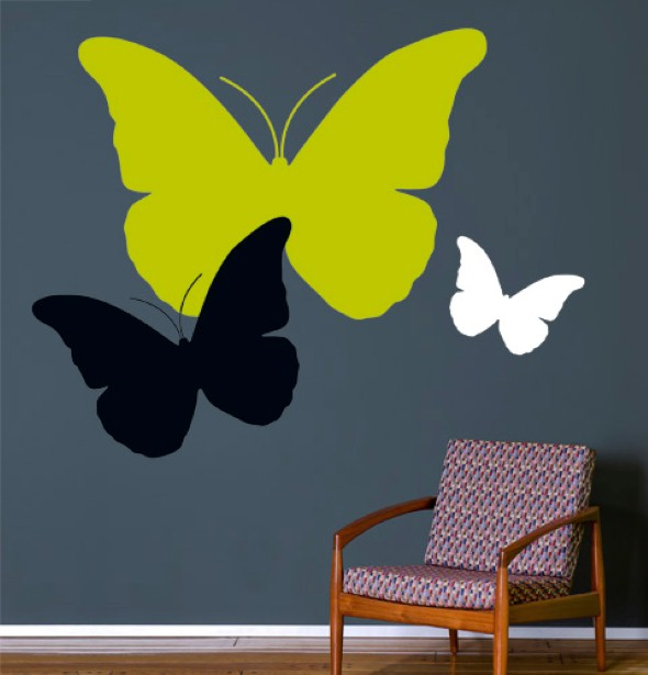 Enfeitar paredes com borboletas 008