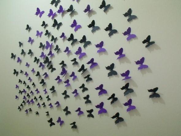 Enfeitar paredes com borboletas 009