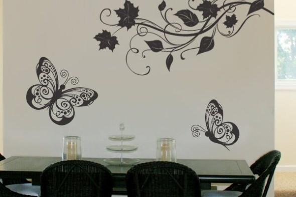 Enfeitar paredes com borboletas 010