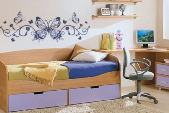 Enfeitar paredes com borboletas 011