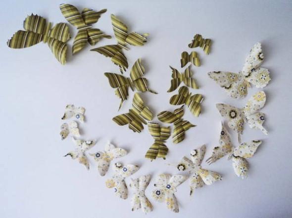 Enfeitar paredes com borboletas 012