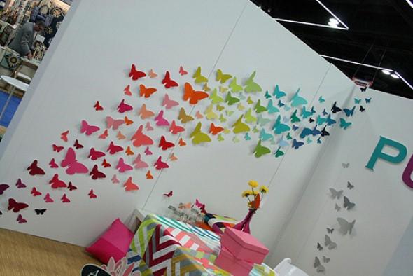 Enfeitar paredes com borboletas 013