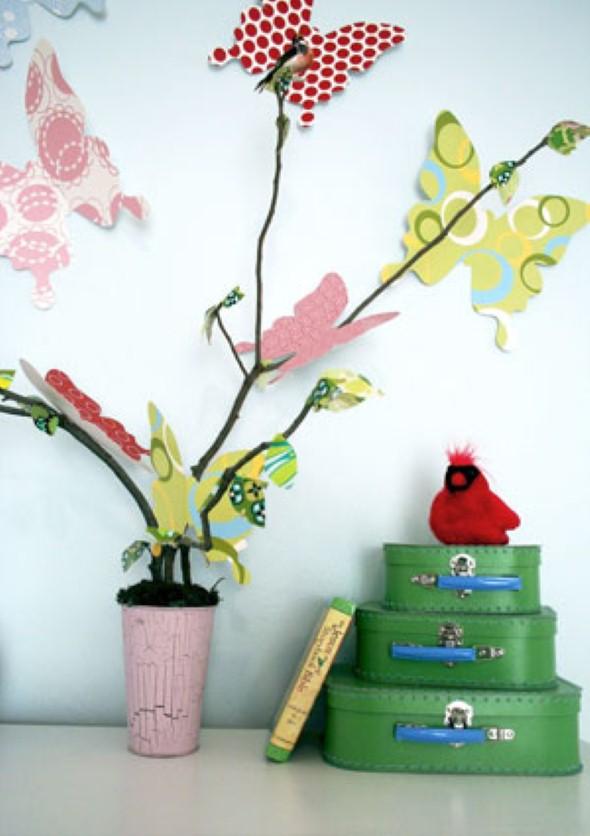 Enfeitar paredes com borboletas 014