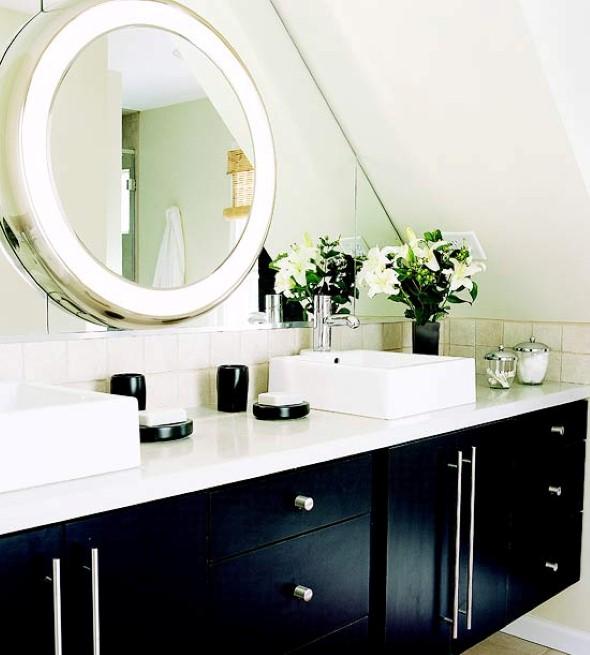 Espelhos para decorar o banheiro 001