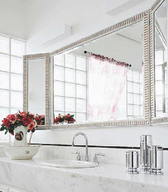 Espelhos para decorar o banheiro 003