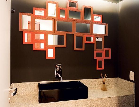 Espelhos para decorar o banheiro 007