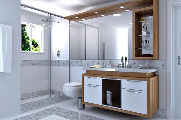 Espelhos para decorar o banheiro 009
