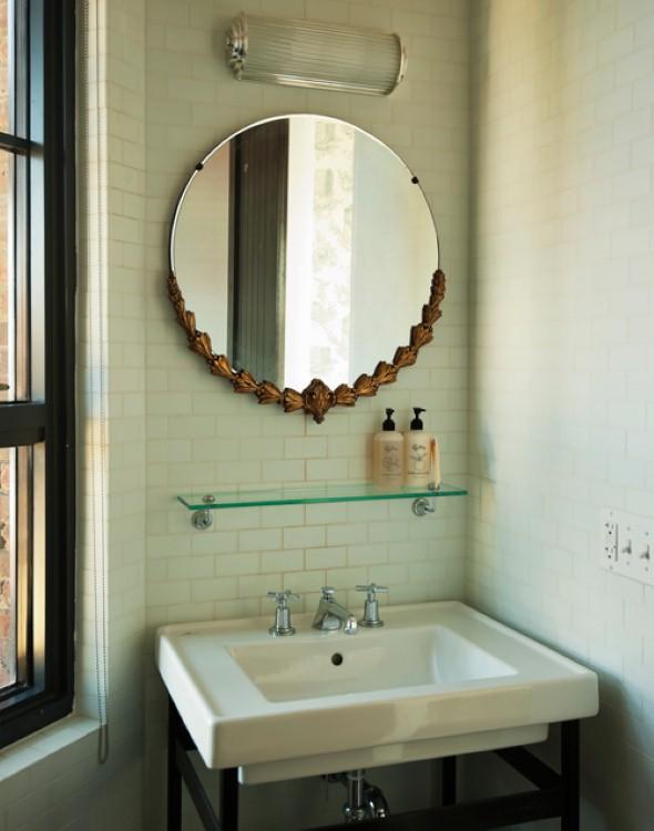 Espelhos para decorar o banheiro 012
