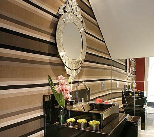 Espelhos para decorar o banheiro 016