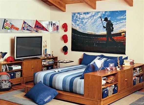 Decoração de quarto de solteiro 012