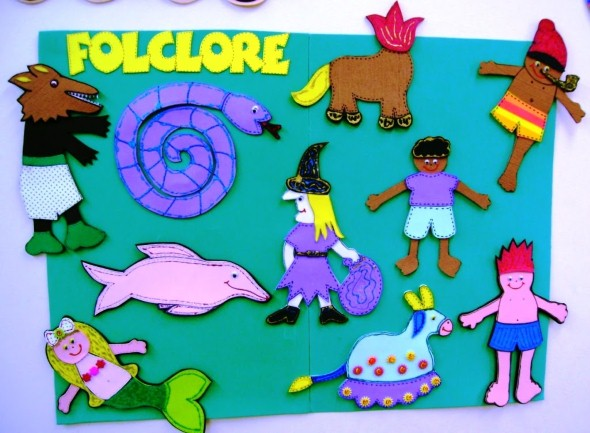 Decoração sala de aula Dia do Folclore 008