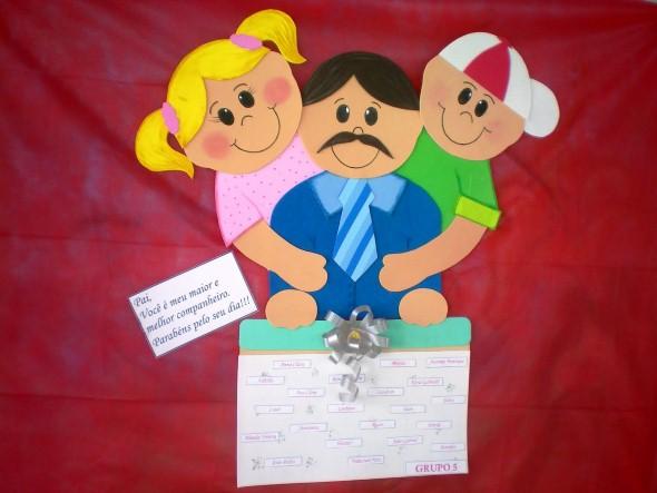 Decoração sala de aula Dia dos Pais 001
