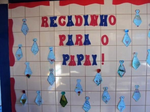 Decoração sala de aula Dia dos Pais 015