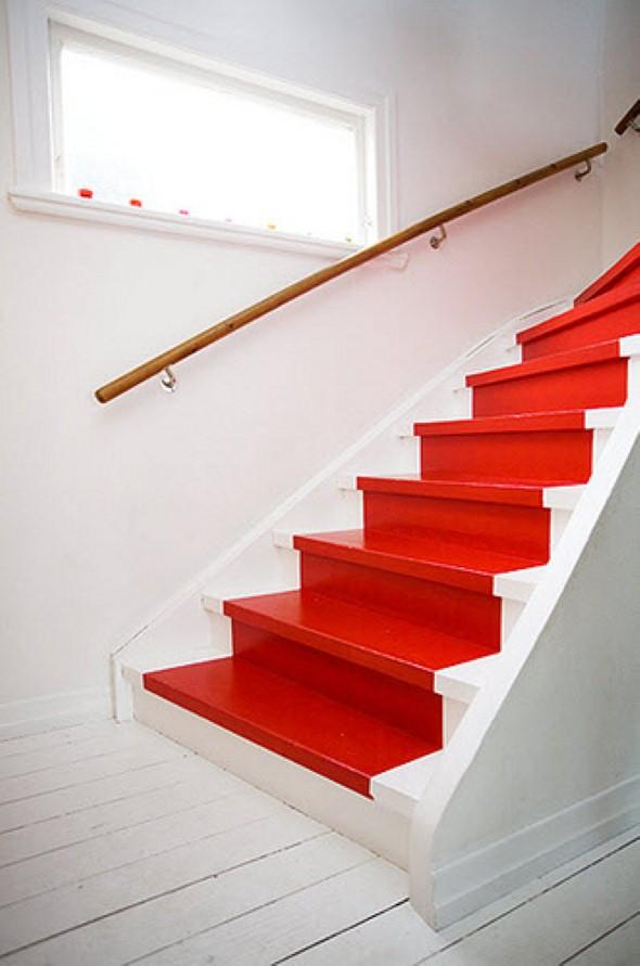 Decorar escadas com degraus pintados 003