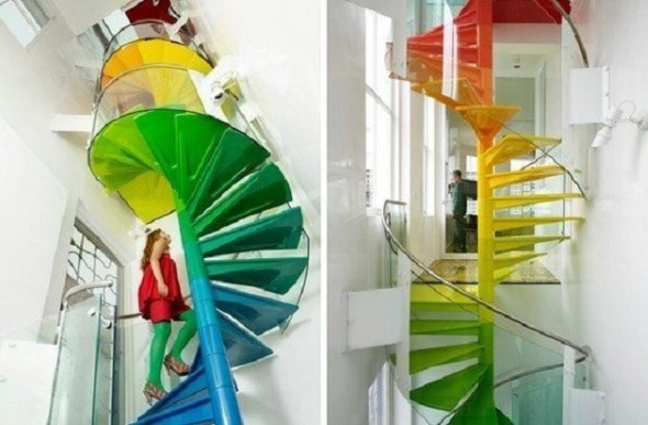 Decorar escadas com degraus pintados 006
