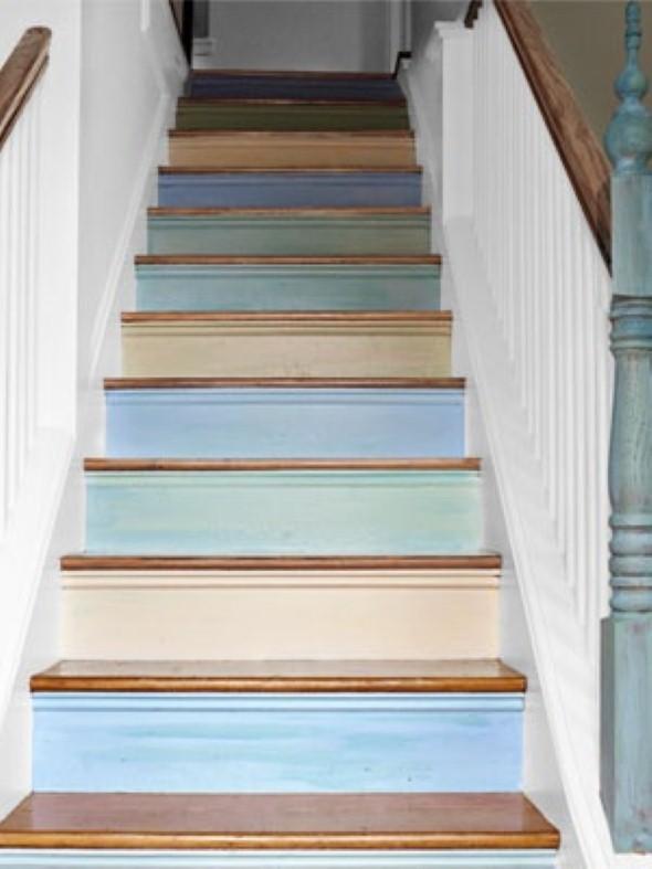 Decorar escadas com degraus pintados 010