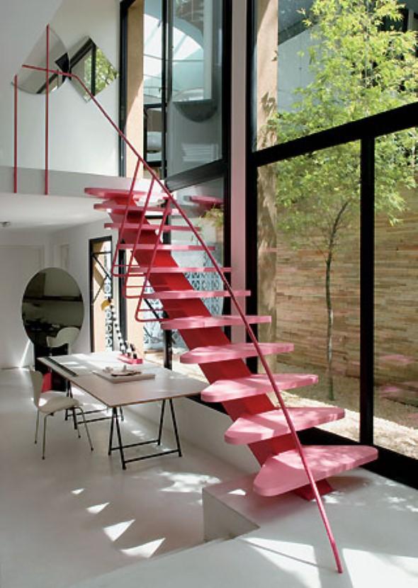 Decorar escadas com degraus pintados 012