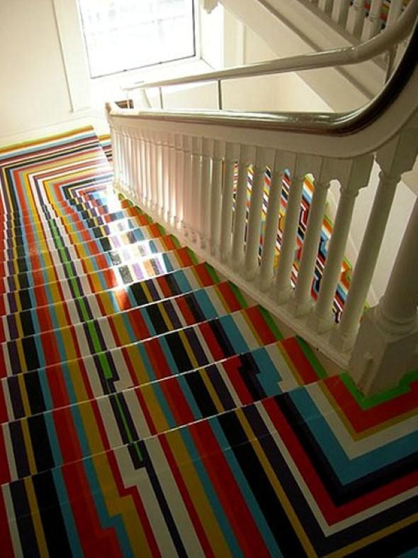 Decorar escadas com degraus pintados 015