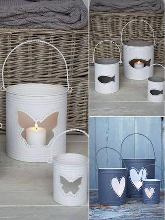 Lanternas feitas de lata