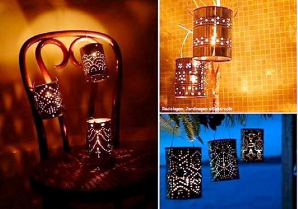 Como montar lanternas de lata para decoração 011