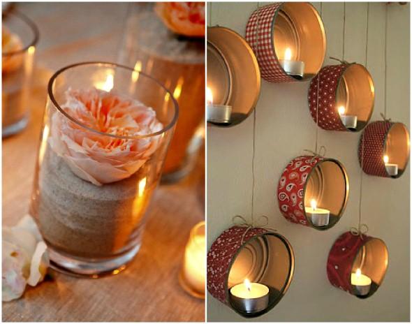 Como montar velas para decorar a casa 008