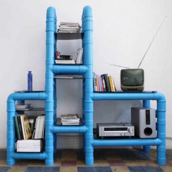Como usar canos de PVC na decoração de ambientes 012