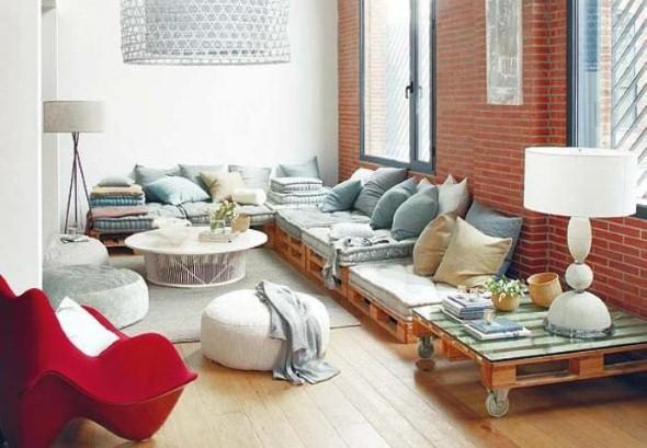 Sofás com paletes e madeira reciclável 002