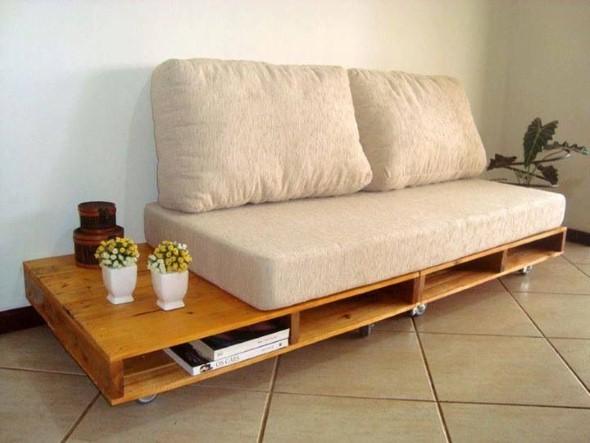 Sofás com paletes e madeira reciclável 003