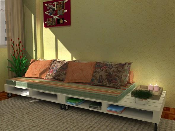 Sofás com paletes e madeira reciclável 013