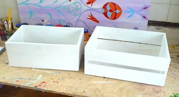 Artesanato em caixote de feira 017