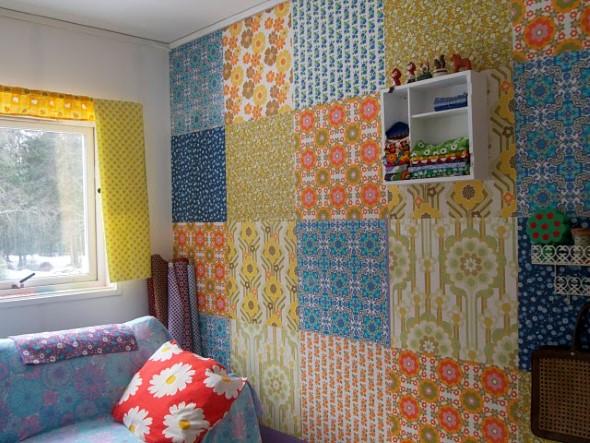 Como decorar paredes com tecido 007