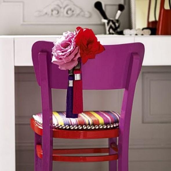 Como reformar cadeira velha para decoração 002