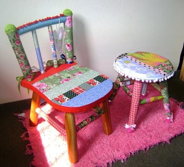 Como reformar cadeira velha para decoração 003