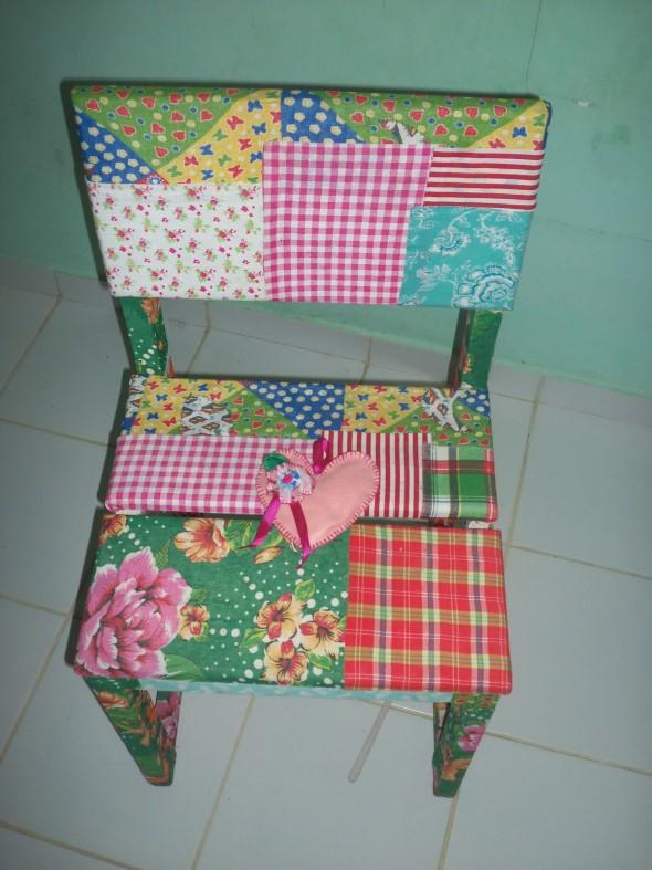 Como reformar cadeira velha para decoração 004