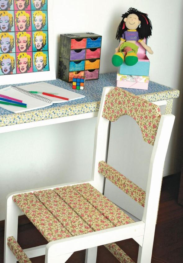 Como reformar cadeira velha para decoração 012