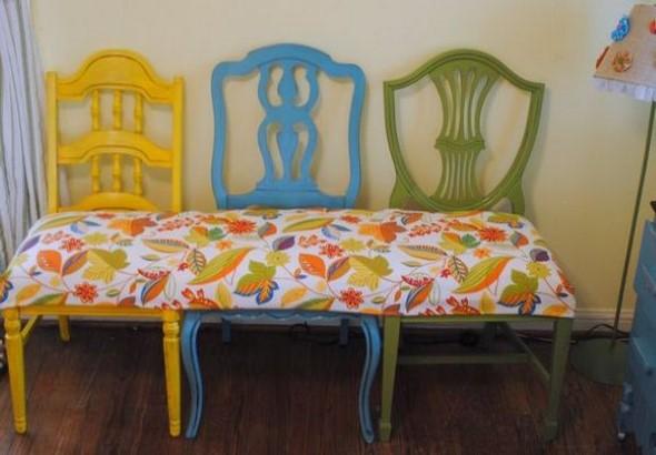 Como reformar cadeira velha para decoração 013