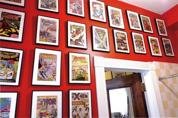 Decoração com história em quadrinhos 001