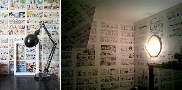 Decoração com história em quadrinhos 003