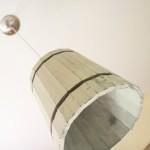 Luminária pendente de material reciclado 001