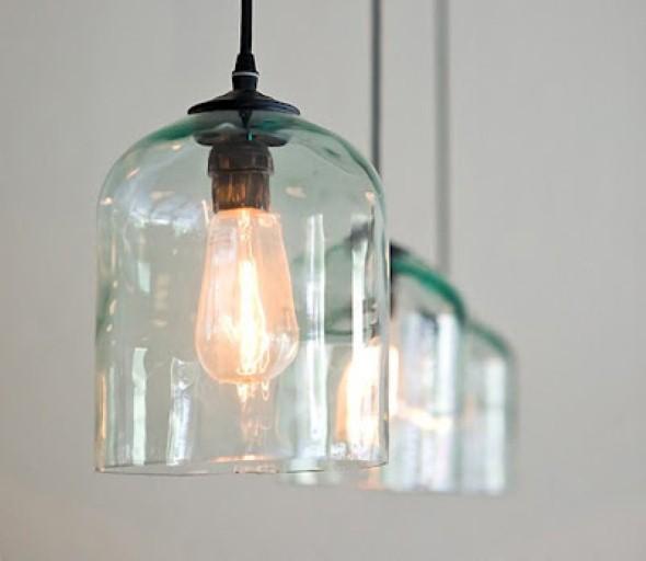 Luminária pendente de material reciclado 010