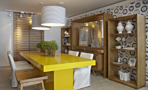 Usar mesas amarelas na decoração 009