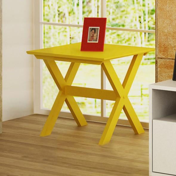 Usar mesas amarelas na decoração 013