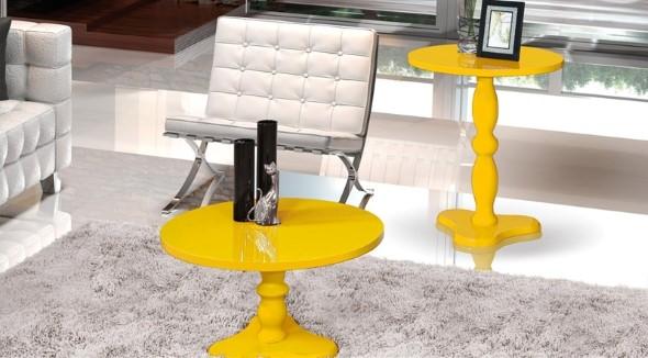 Usar mesas amarelas na decoração 015